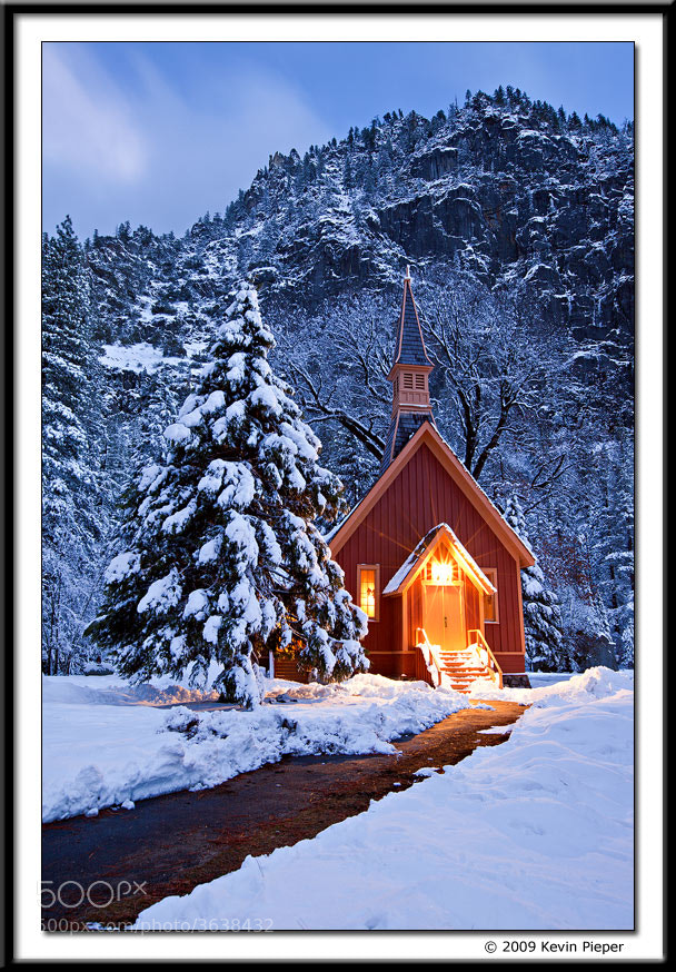 Photograph Winter, Yosemite Church by Kevin  Pieper on 500px