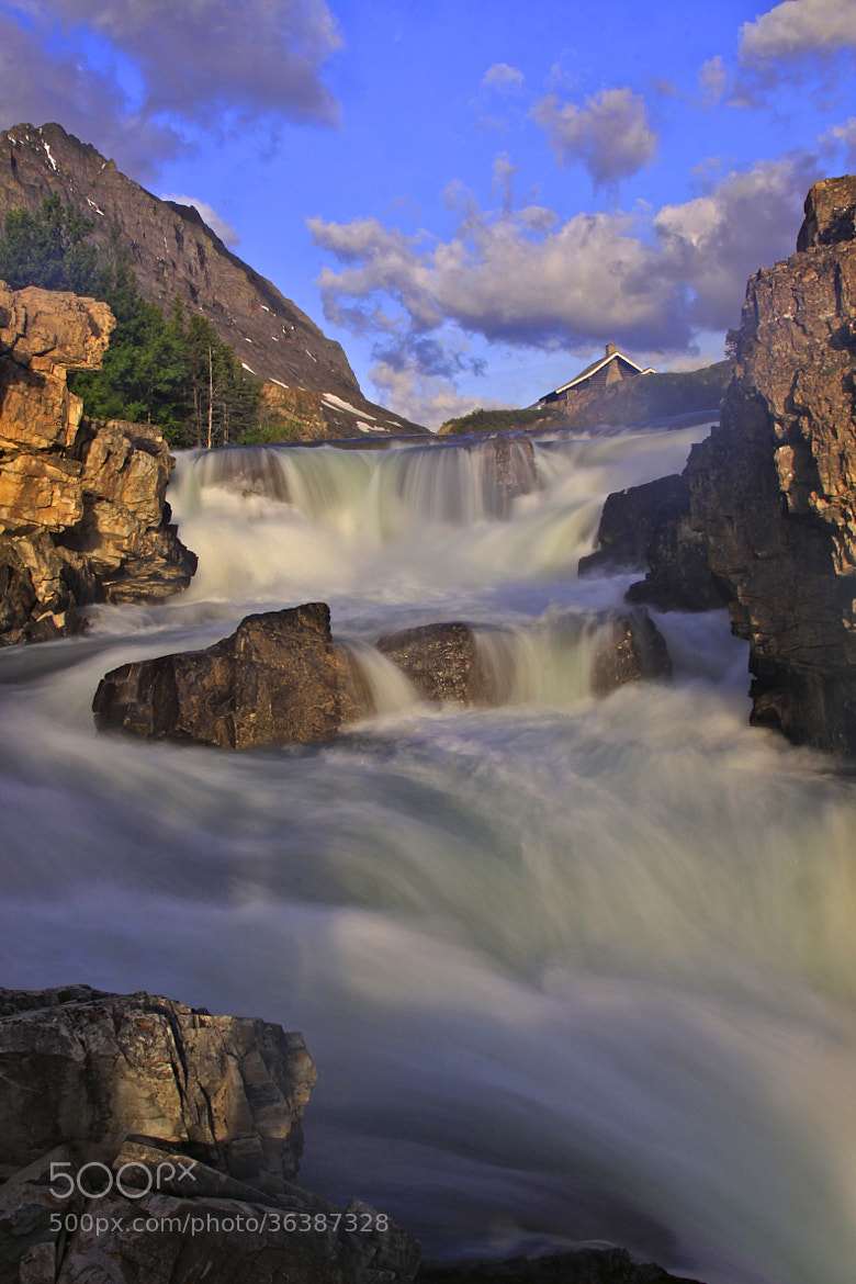 Photograph Morning at Swiftcurrent Falls by Joseph Urgo on 500px