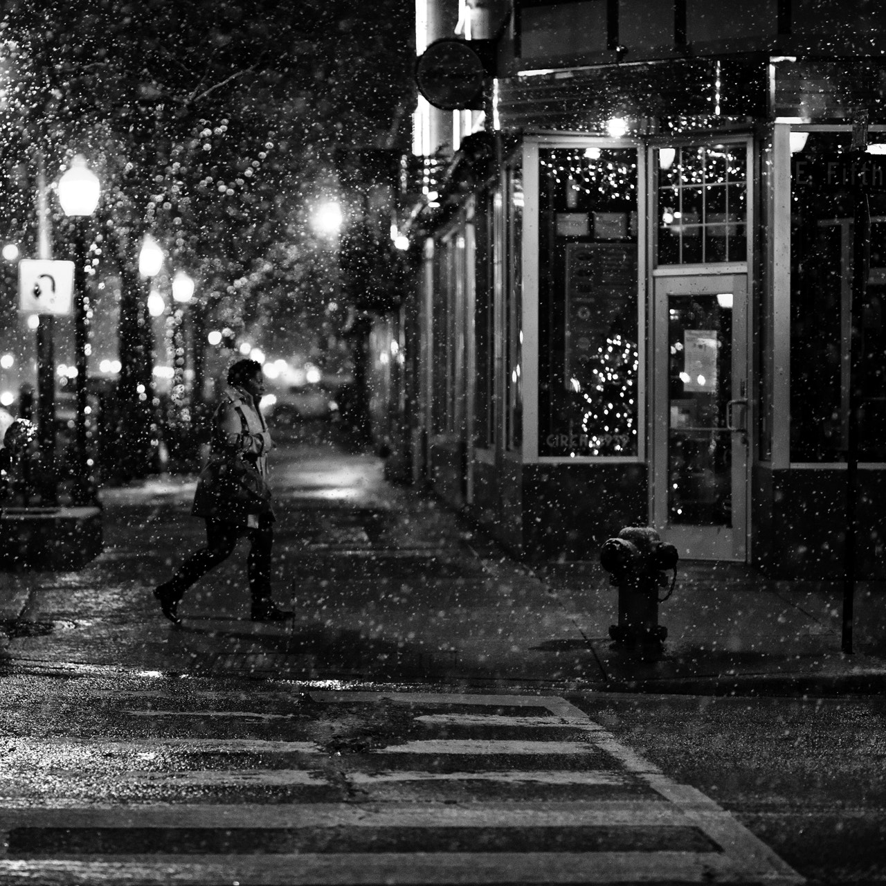 Photograph counting snowflakes on a quiet night by Brian Day on 500px