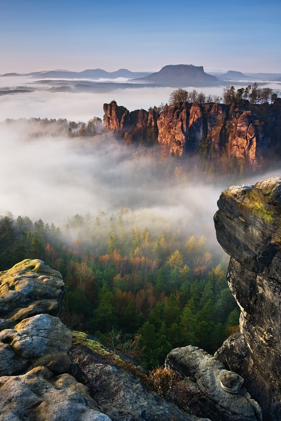 Photograph Foggy morning Bastei by Daniel Řeřicha on 500px