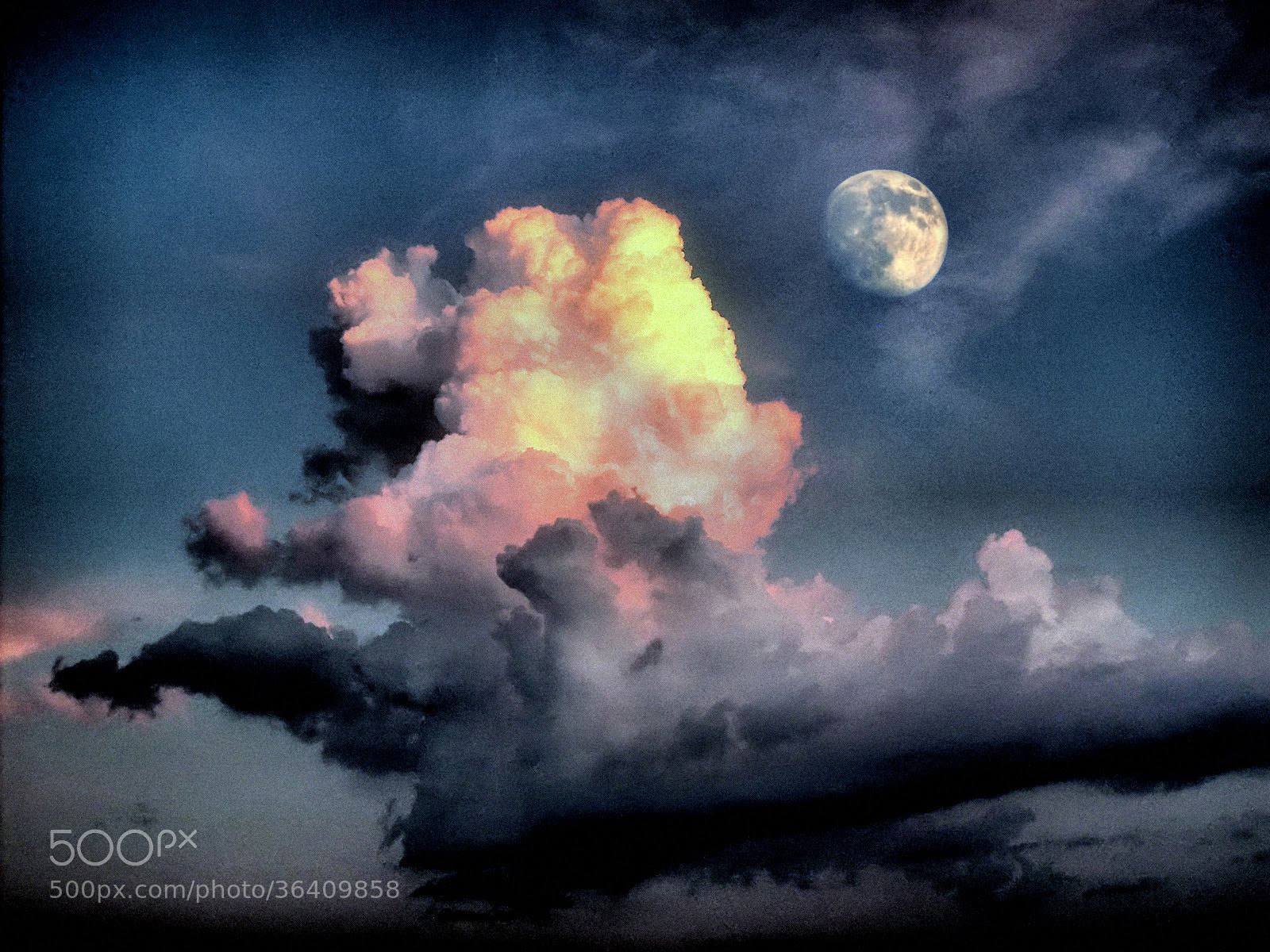 Photograph Cloud and the moon by Slavco Stojanoski on 500px
