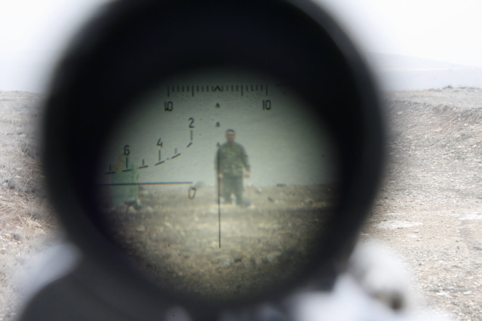 Photograph Soldier in gun sight by Albert Poghosyan on 500px