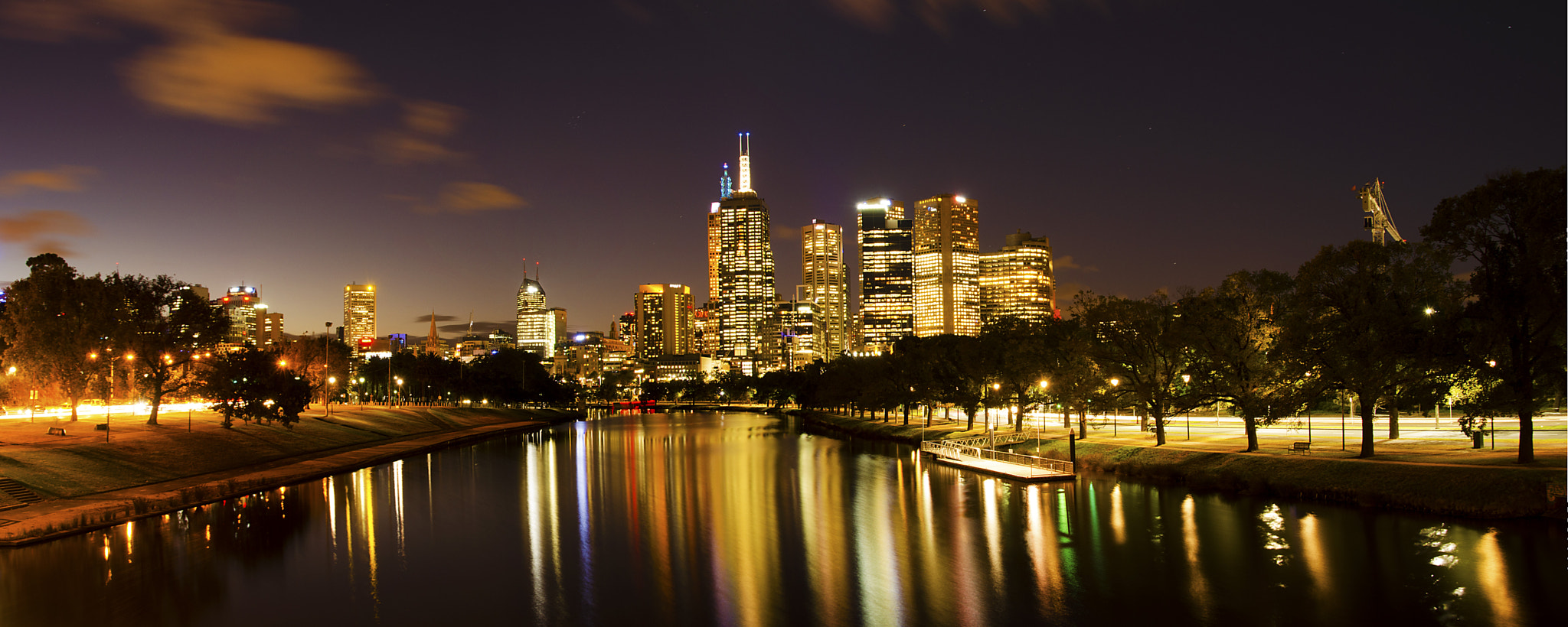 Photograph Melbourne @ night by Martijn Barendregt on 500px