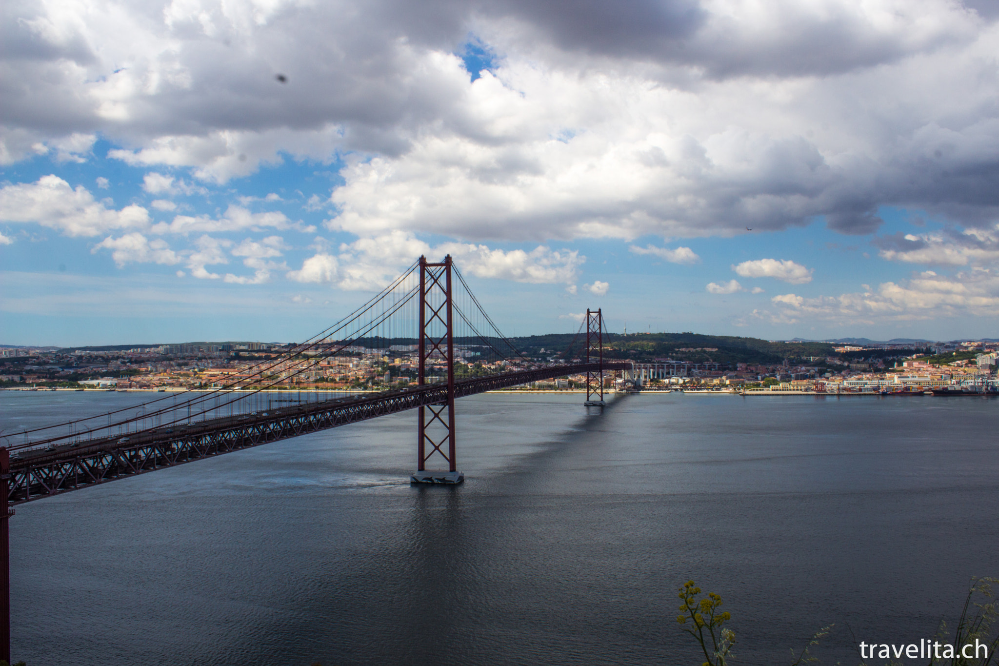 Photograph 25 de Abril Bridge with Lisbon by Anita  on 500px