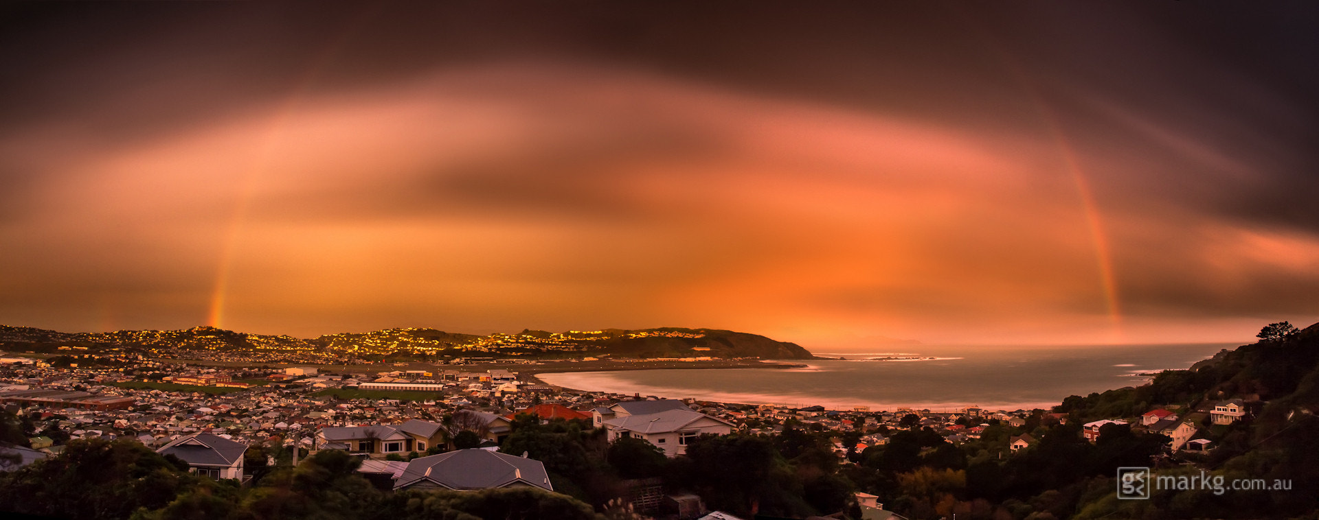 Photograph Golden Hour Rainbow Over Lyall by Mark Gee on 500px