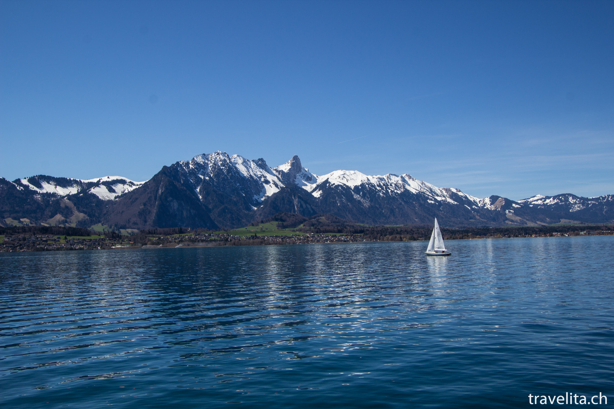 Photograph Lake of Thun with some mountains by Anita  on 500px