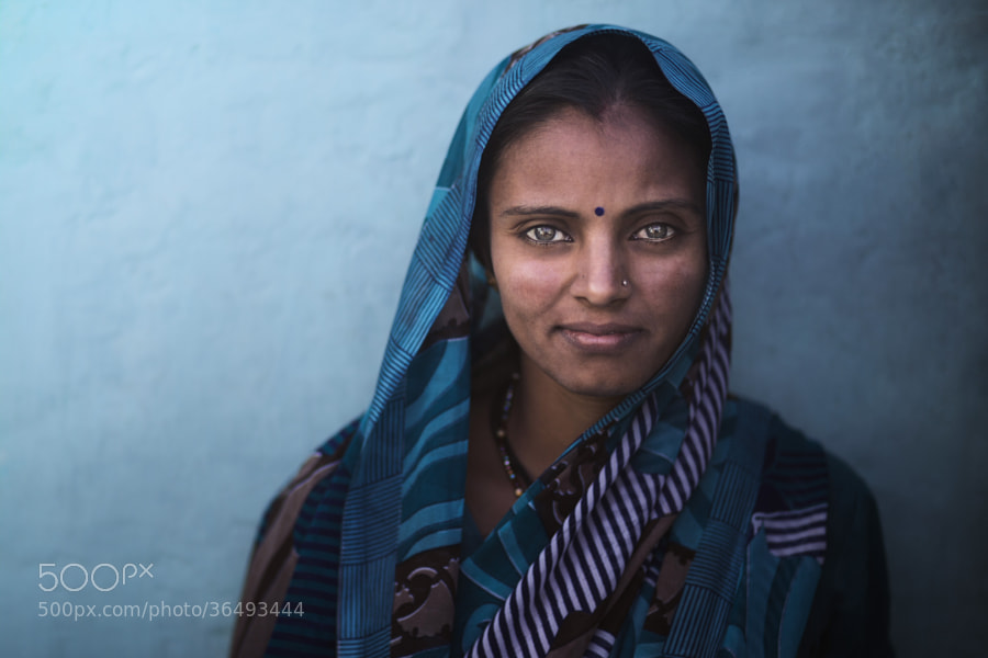 Photograph Indian Woman by Mohammed Baqer on 500px