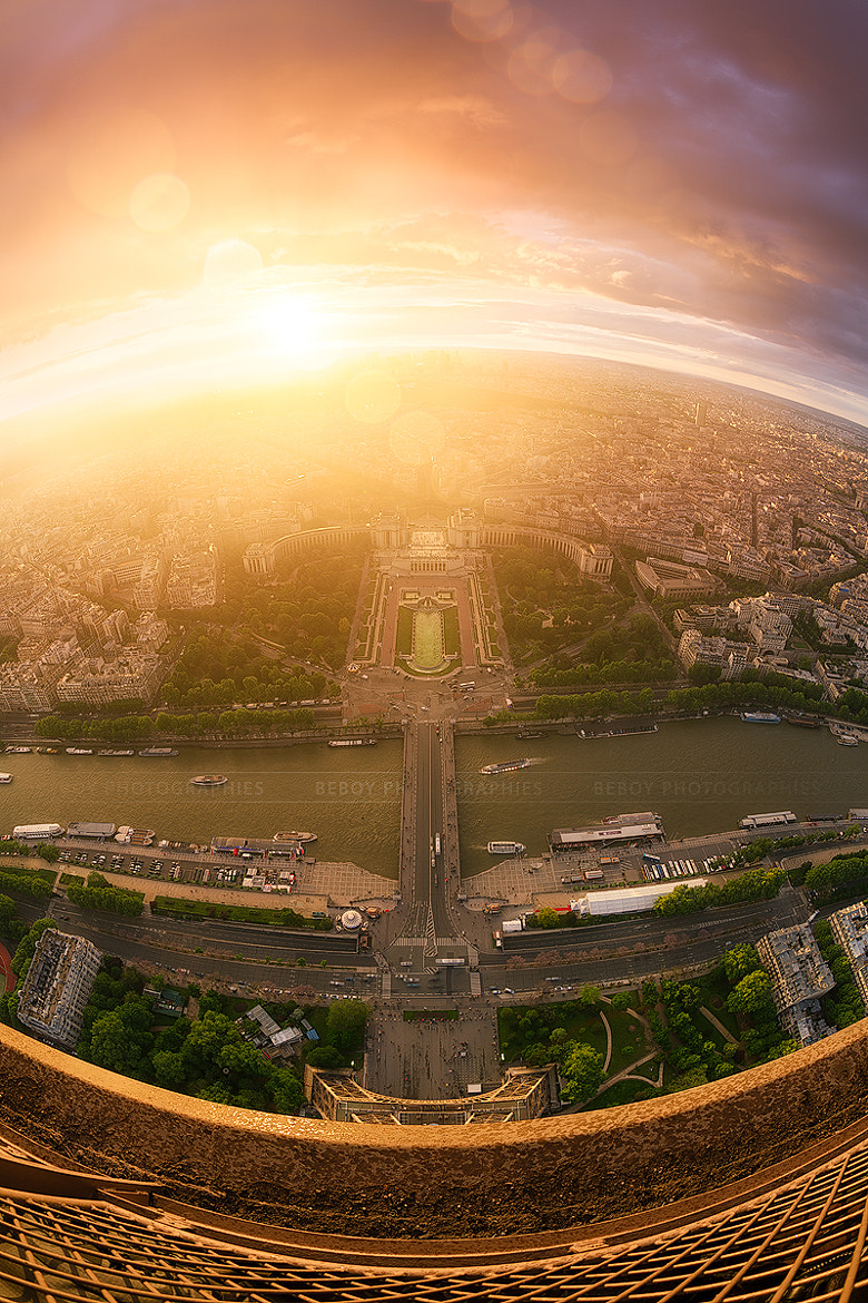 Photograph Sunset from the top of Paris by Beboy Photographies on 500px
