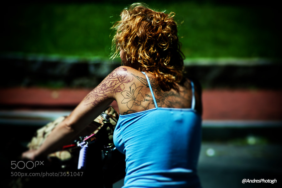 I love taking pictures of inked people, this was taken near Logan's circle in Washington, DC