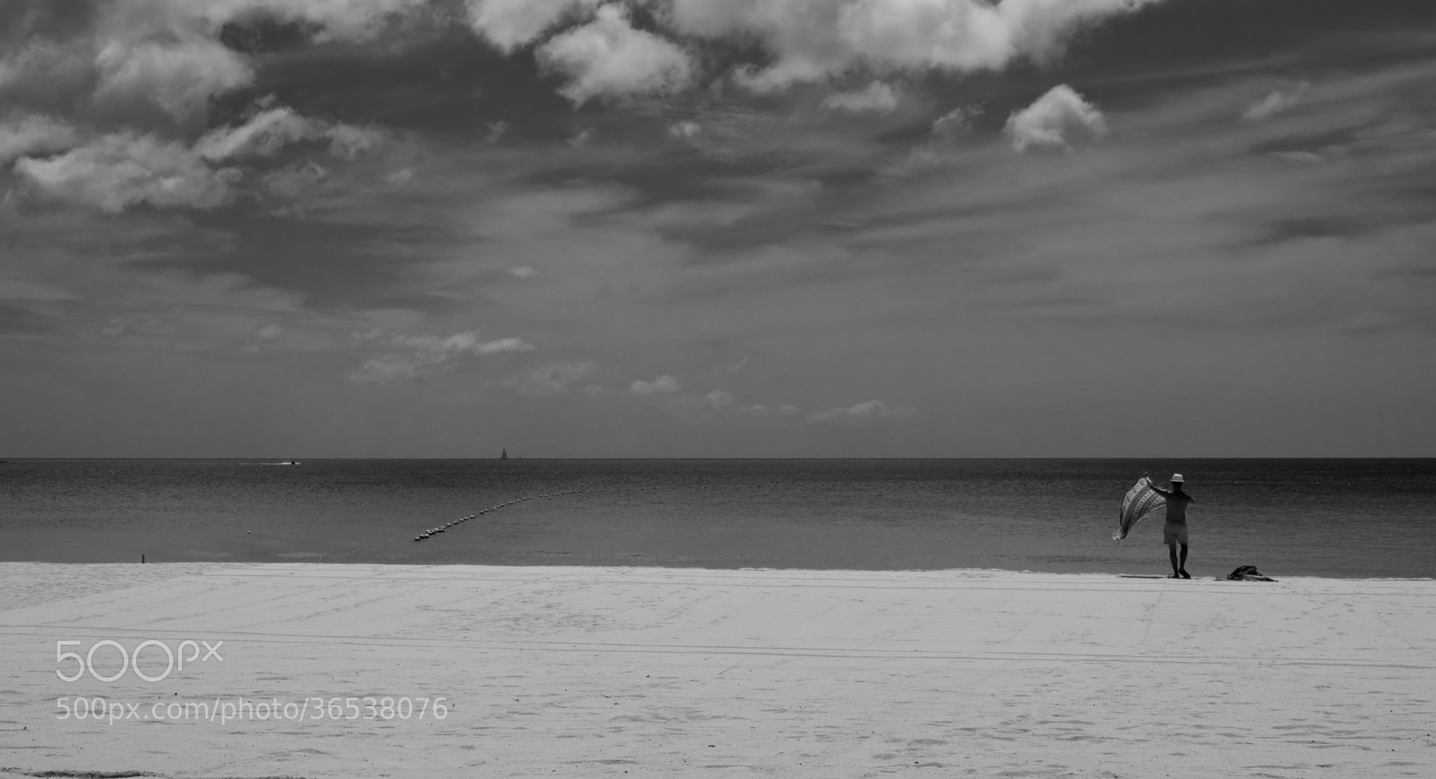Photograph Alone on the beach by Nabil BACHIR-CHERIF on 500px