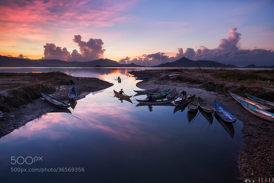 Photograph The morning on Nai Lagoon, Phan Rang city, Ninh Thuan province, Viet Nam by Duy Black on 500px