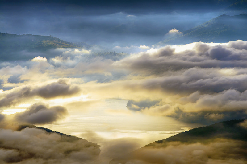 Photograph Sunrise over clouds by Ioan Chiriac on 500px