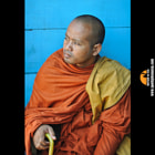 This Monk was sitting on a ferry from Silk Island near Phnom Penh in Cambodia.  I was no doubt immediately drawn to the colours and proceeded to take a series of images.