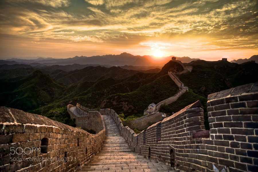 Great Wall in China by Philipp Göllner (philippgoellner) on 500px.com