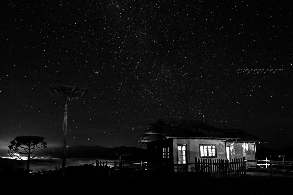 Photograph Noite Estrelada - The night and the stars by Evandro Badin on 500px