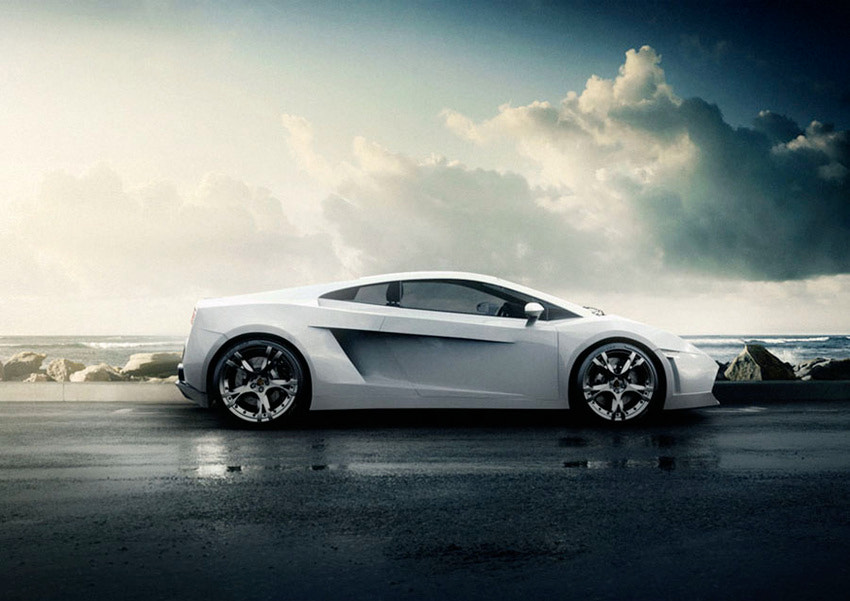 Photograph White Lambo by Richard Feldman on 500px
