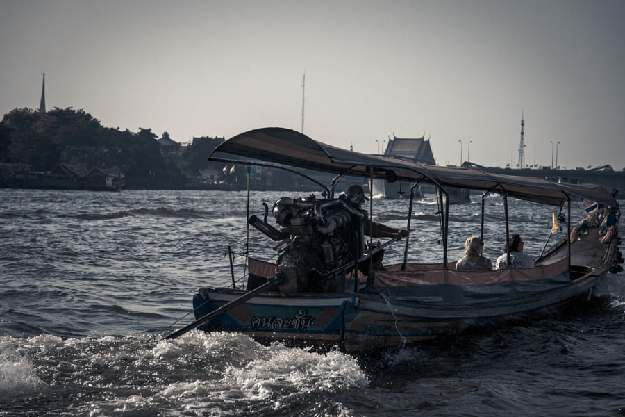 Longtail Boat on Chao Praya by Julien Vernet