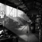 Engineering workshop for restoration of steam locomotives, Parnell, Auckland, NZ.