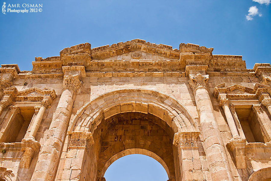 Photograph Jerash Gate III Coloured by Amr Osman on 500px