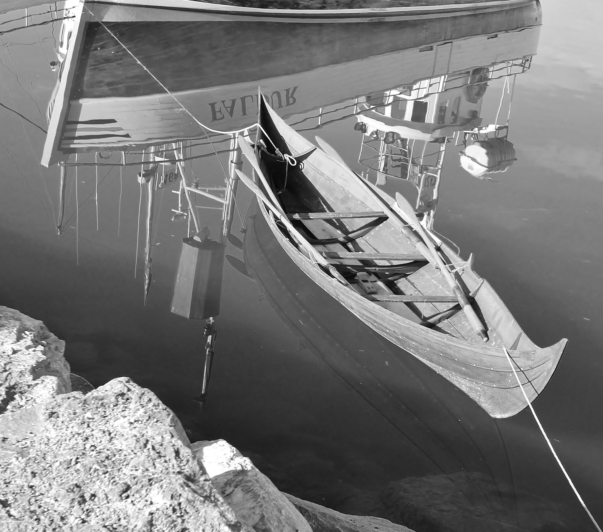 Photograph Húsavík harbour reflections in b/w by Nora 80 on 500px