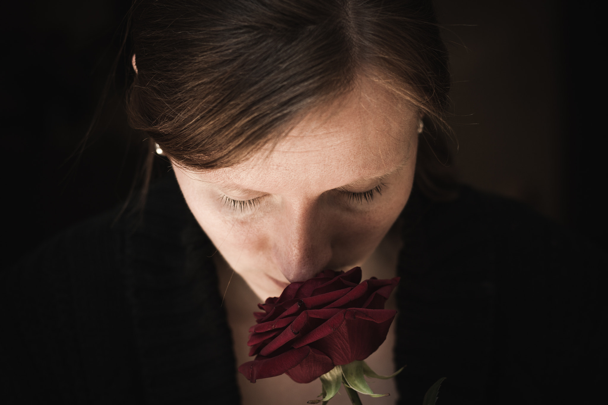 Photograph self with a rose by Andrea Schunert on 500px