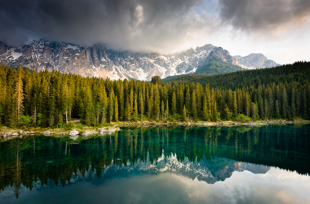 Photograph Lago di Carezza in Afternoon Light by Hans Kruse on 500px