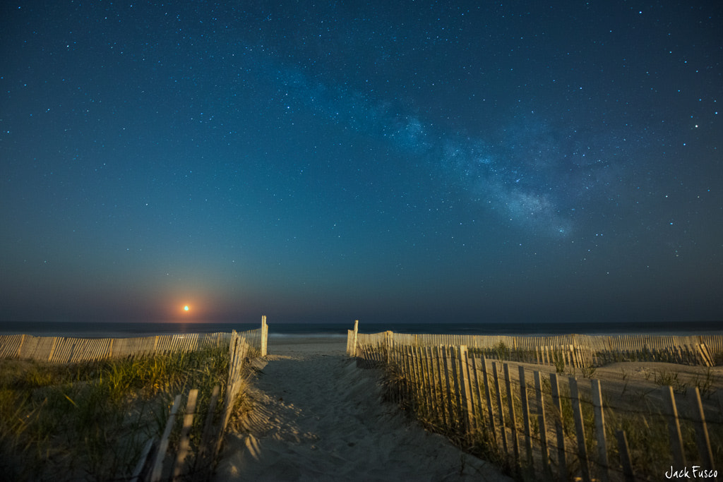 Photograph Sea Isle Moonrise by Jack Fusco on 500px