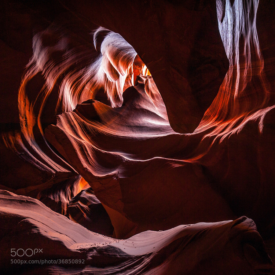 Photograph The Great Chasm of Antelope Canyon on the Navajo Reservation by Nathan Cowlishaw on 500px