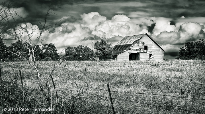 Photograph Black & White Barn by Peter Hernandez on 500px