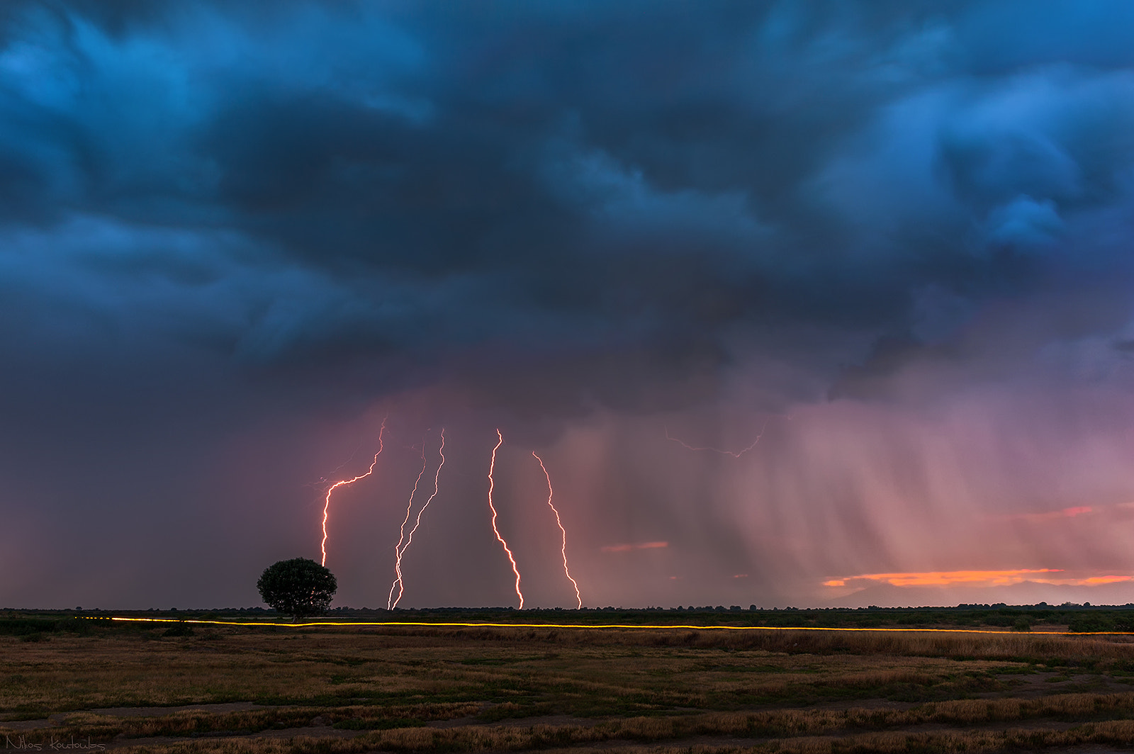 Photograph Lightning storm over the tree by Nikos Koutoulas on 500px