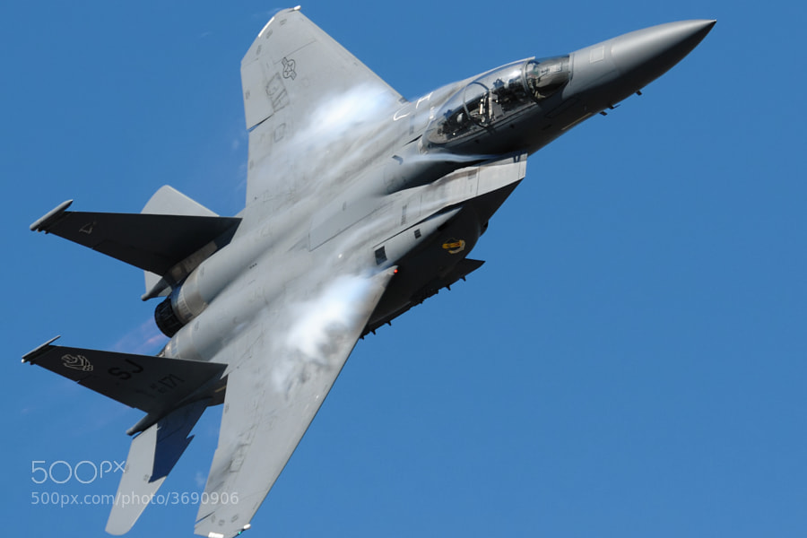 F-15E Strike Eagle over NAS Pensacola