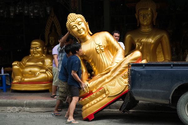 Photograph Bangkok Buddha Street, Bamrung Muang by John Lander on 500px