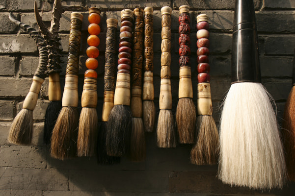 Photograph Calligraphy Brushes at Liulichang Market by John Lander on 500px