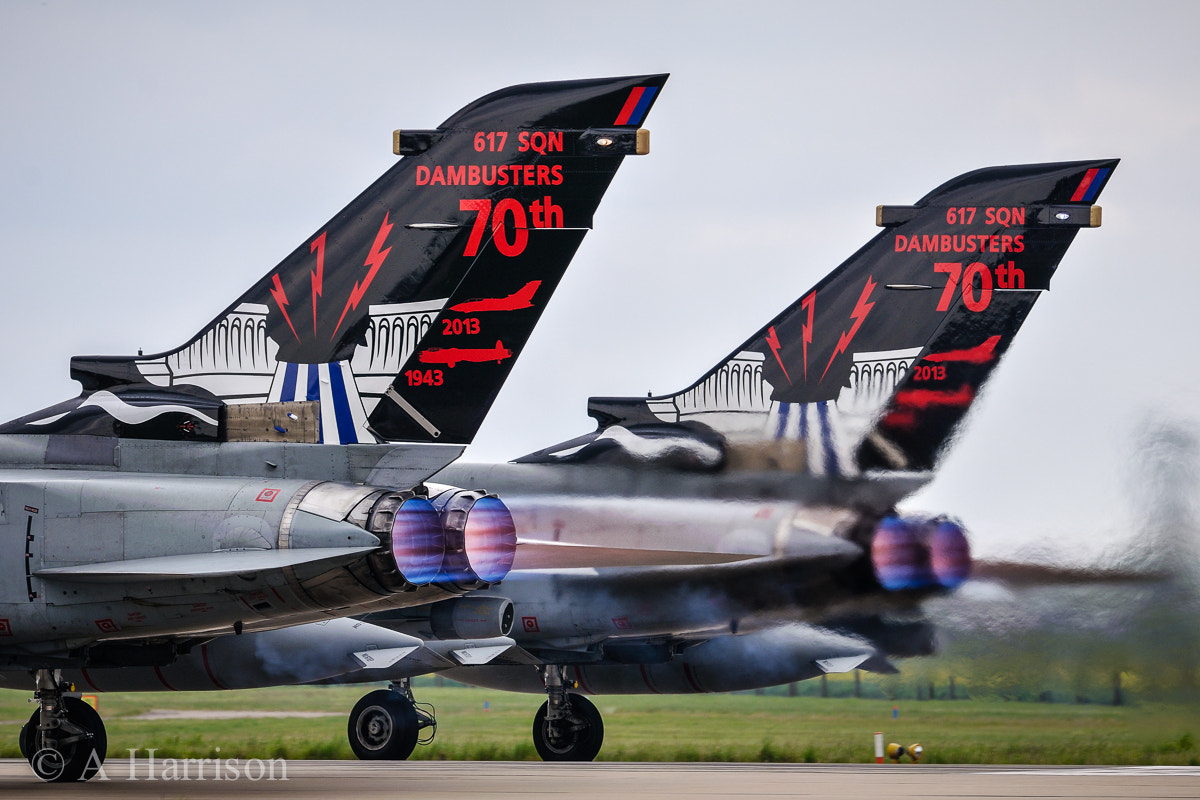 """Photograph 617 Sqn """"Dambusters"""" Tornado GR4's by Adrian Harrison on 500px"""