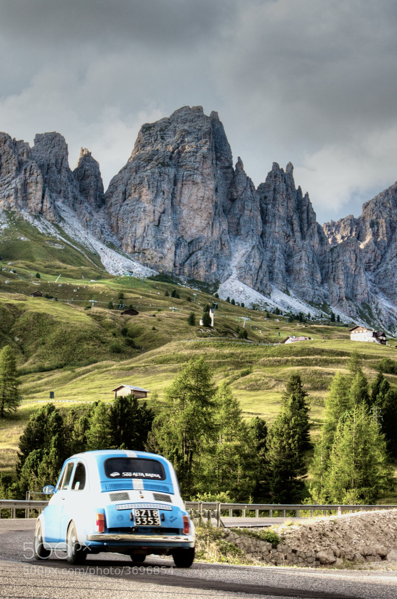 Photograph Fiat in the Dolomites by Dan Kwon Jr on 500px