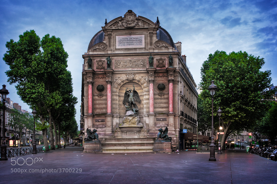 Photograph The Saint Michel Plaza in Paris by Ramelli Serge on 500px