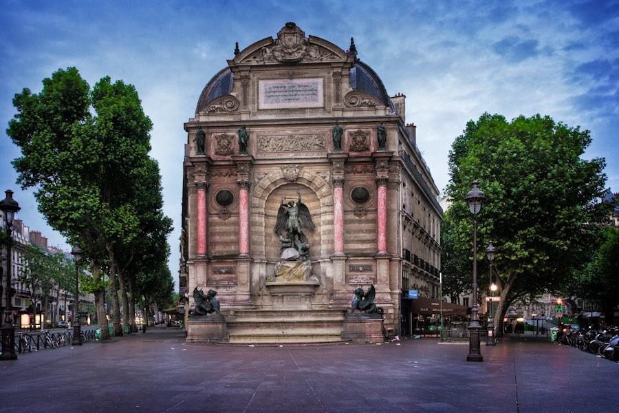 The Saint Michel Plaza in Paris