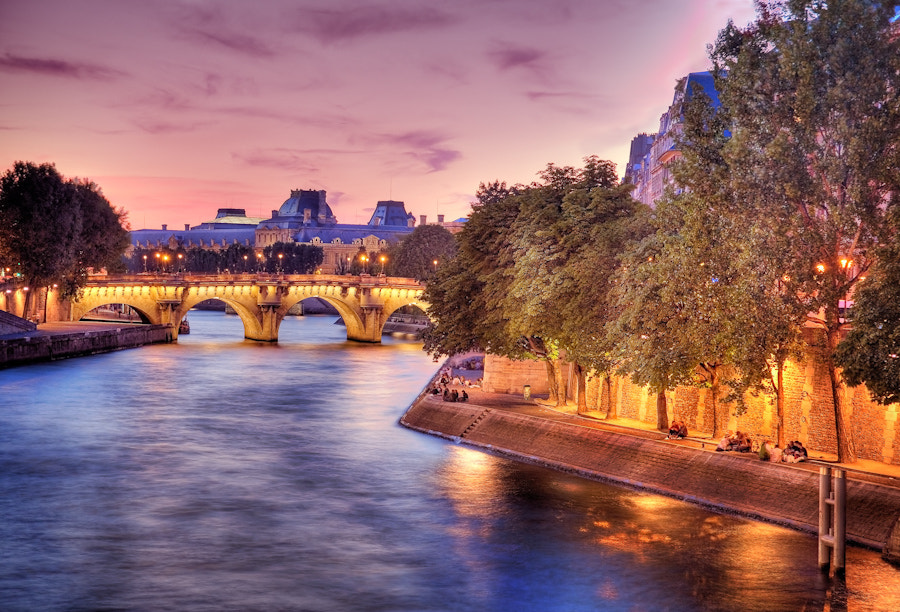 Photograph The seine river Sunset in Paris by Ramelli Serge on 500px