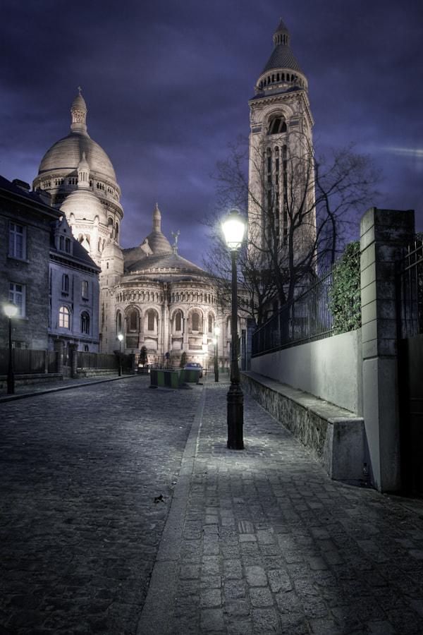 The back of the Sacré Coeur Montmartre Paris