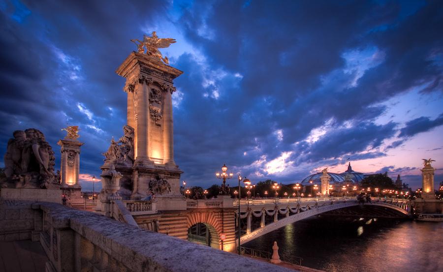 The alexander III bridge in Paris