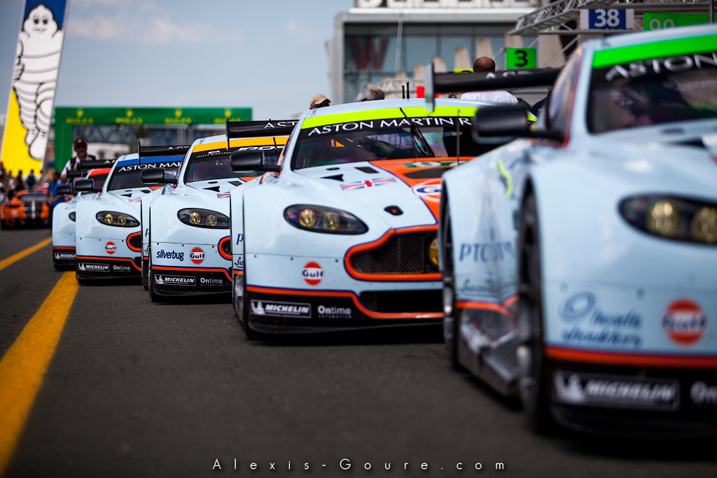Photograph Aston Martin Racing Line up by Alexis Goure on 500px