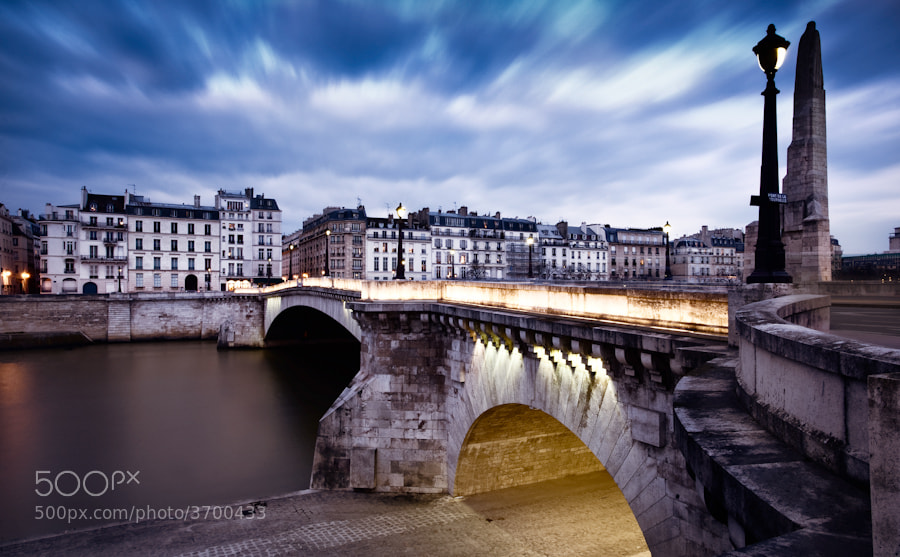Photograph The Tournelle birdge long clouds in Paris by Ramelli Serge on 500px