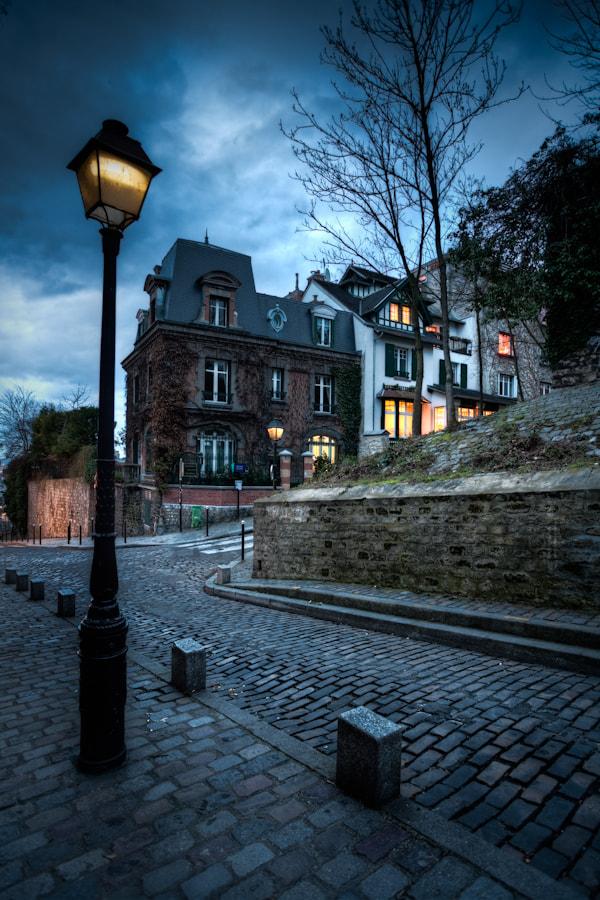 The lights of Montmartre Paris
