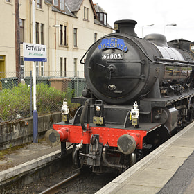The Jacobite Steam Train running from Fort William to Mallaig, used in the Harry Potter films.