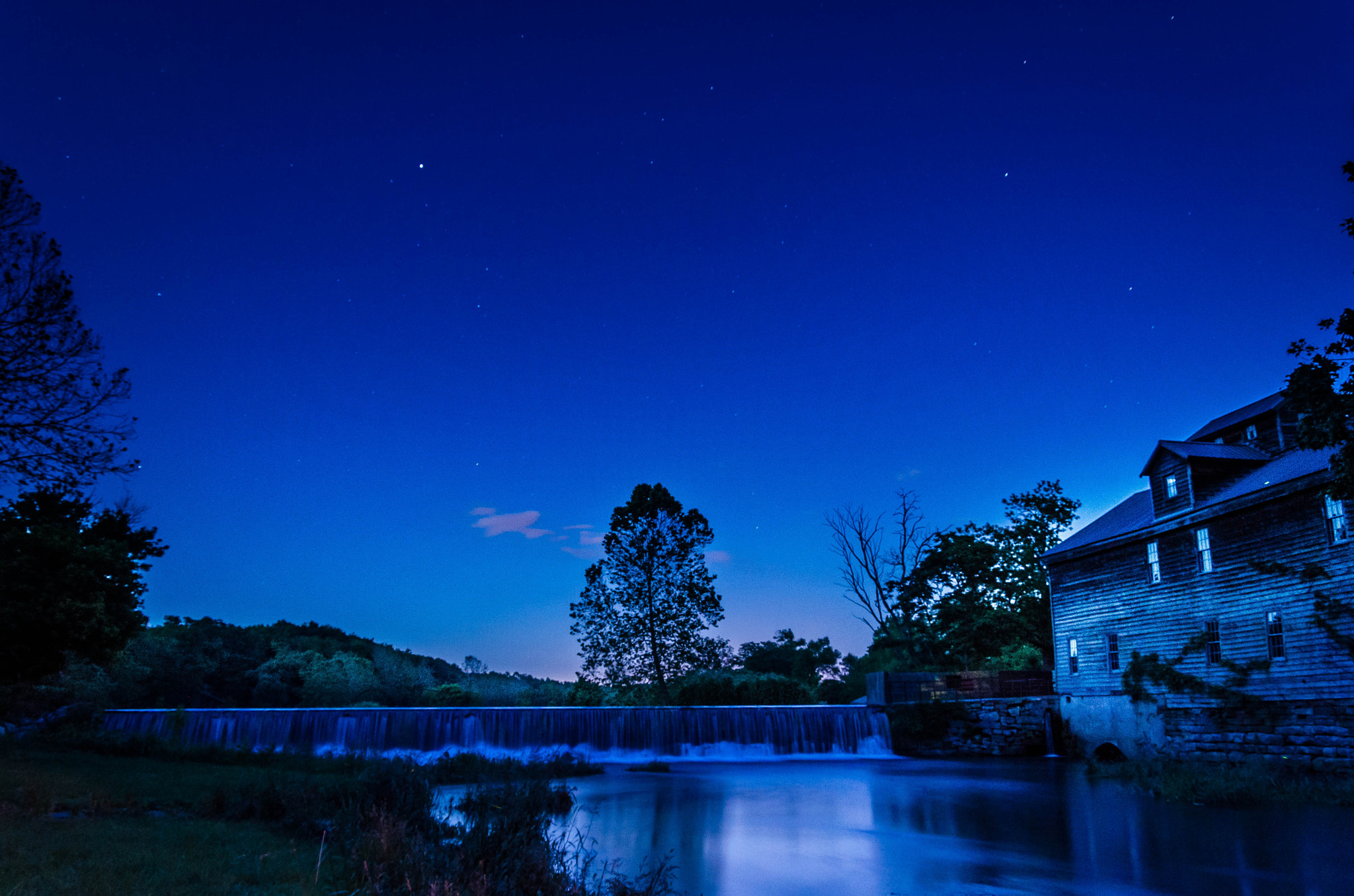 Photograph Nightfall at the Mill by Jerry Dean on 500px