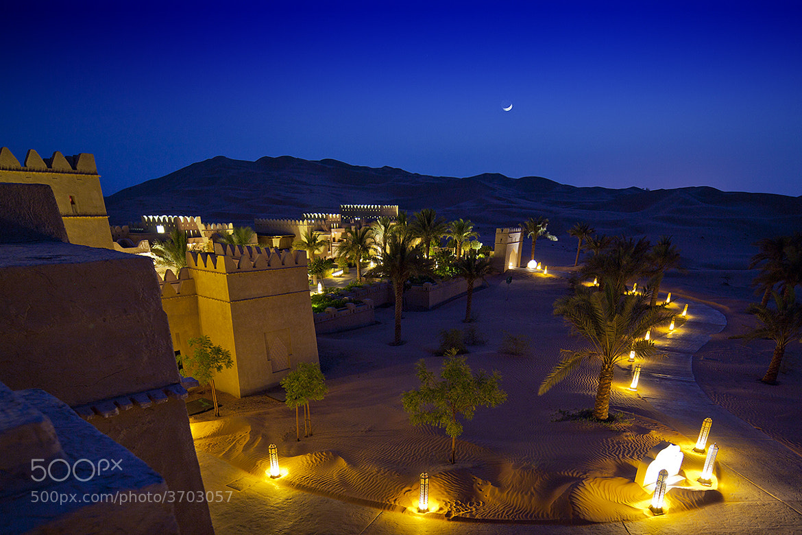 Photograph Moonrise over Qasr Al Sarab by Beno Saradzic on 500px