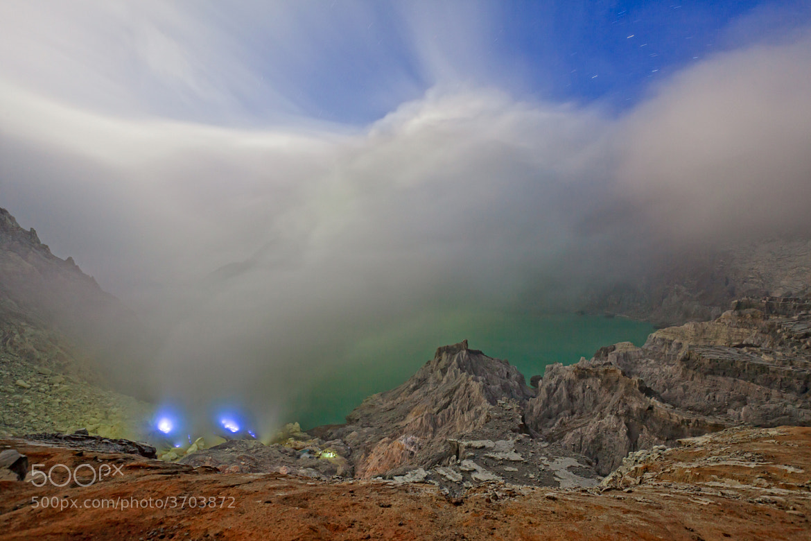 Photograph Blue fire Volcano by Helminadia Ranford on 500px