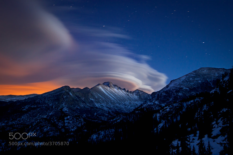 Lenticular Clouds Over Glacier Gorge by Erik Page on 500px.com