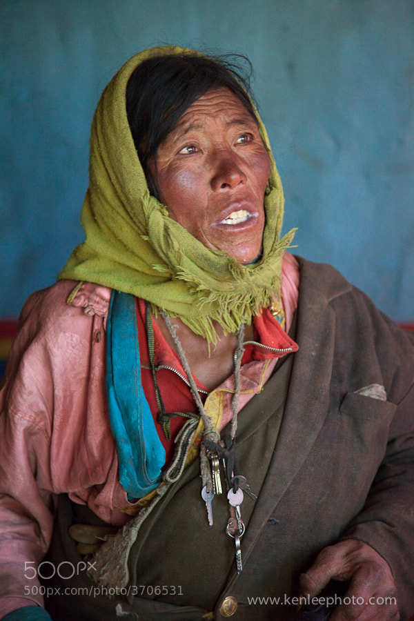 Photograph Tibetan Nomad Woman by Ken Lee on 500px