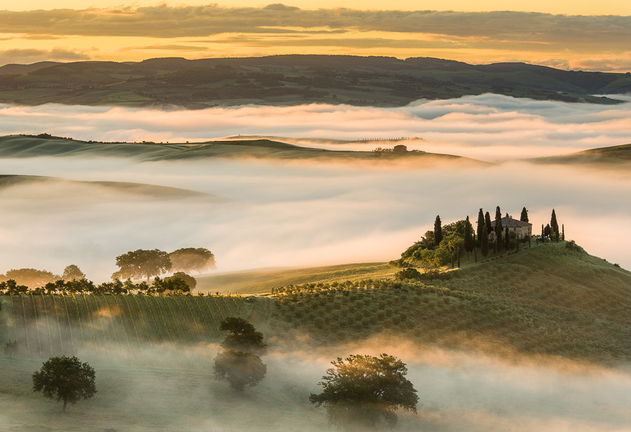 Photograph Golden morning in Val d'Orcia by Hans Kruse on 500px